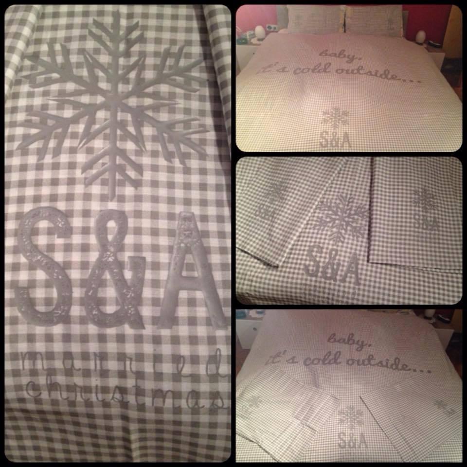 Natpis na posteljinu